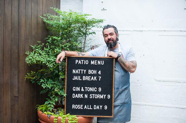 Patio Bar at Hill Prince